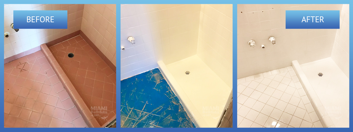 before and after the restoration of the bathroom
