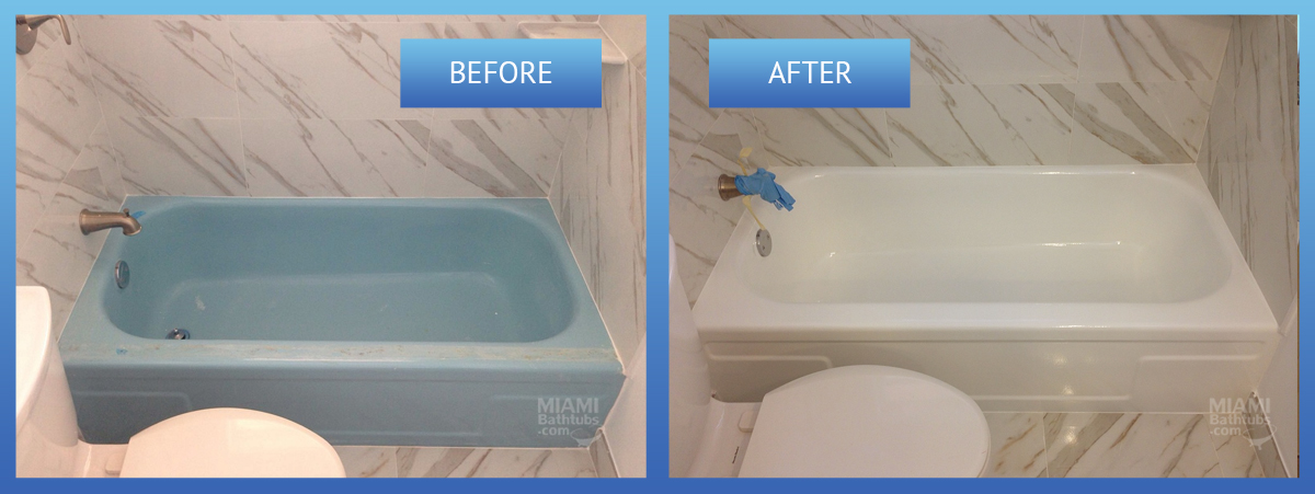 bathtub before after