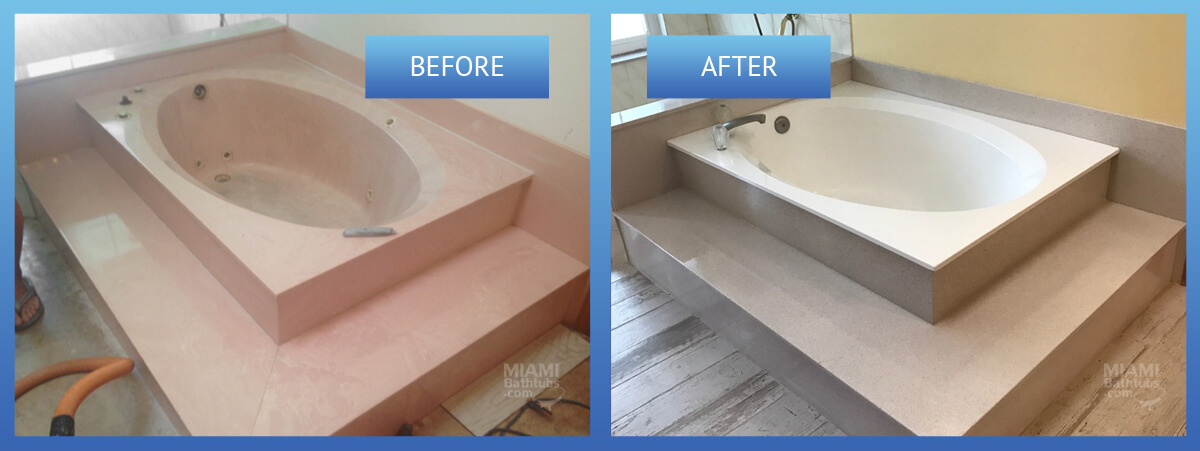 Bathtub resurfacing before and after