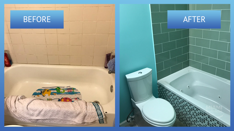 The Bathroom Restoration before and after