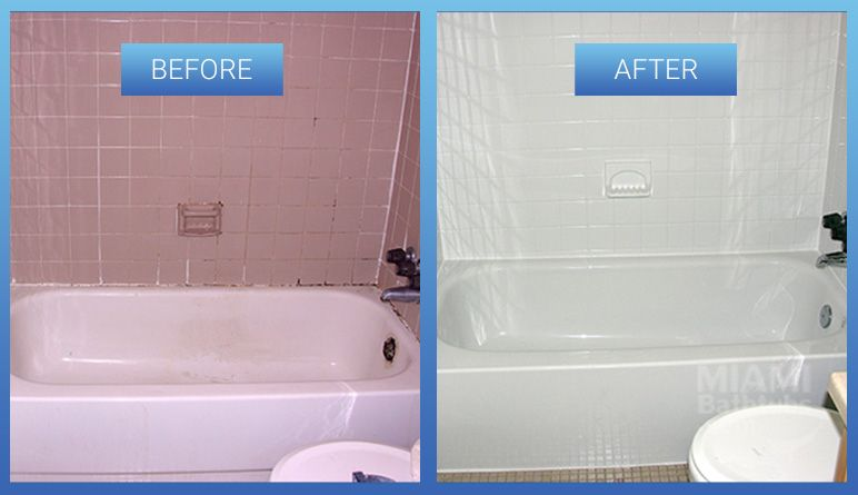 bathtub refinishing before after
