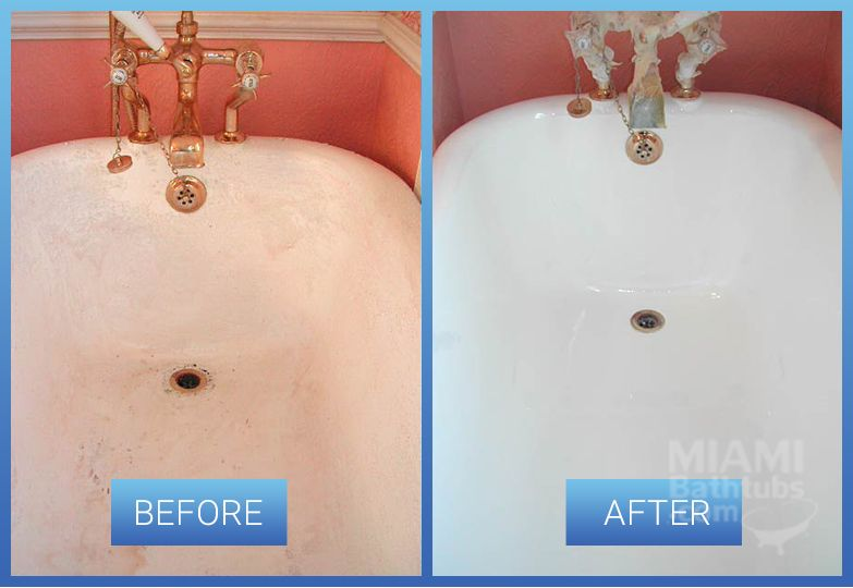 bathtub resurfacing before after