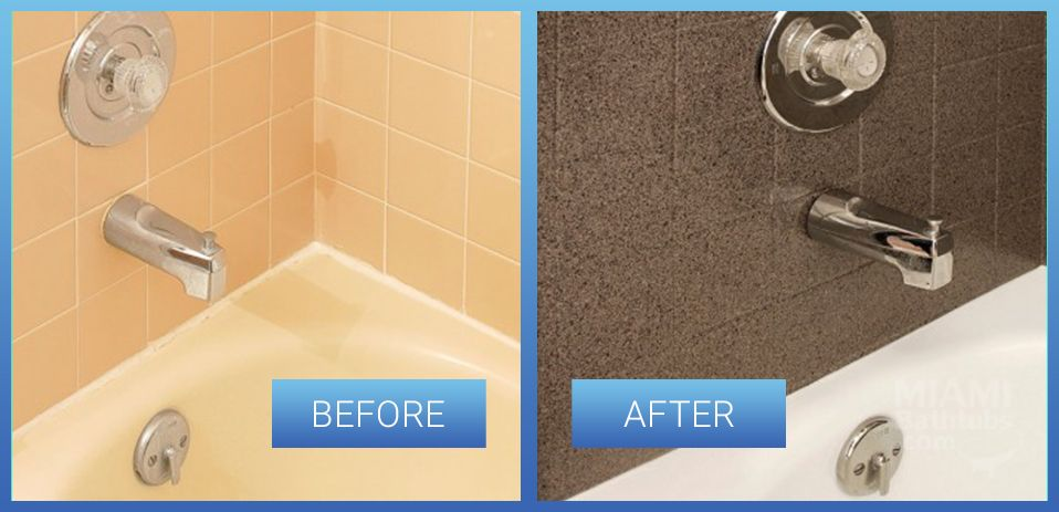 Tile Refinishing Reglazing Resurfacing In Bathroom Miami Bathtubs - Bathroom tile reglazing