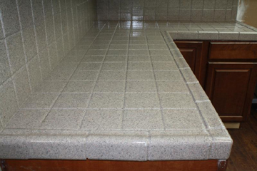 Tiled Kitchen Countertop Refinished