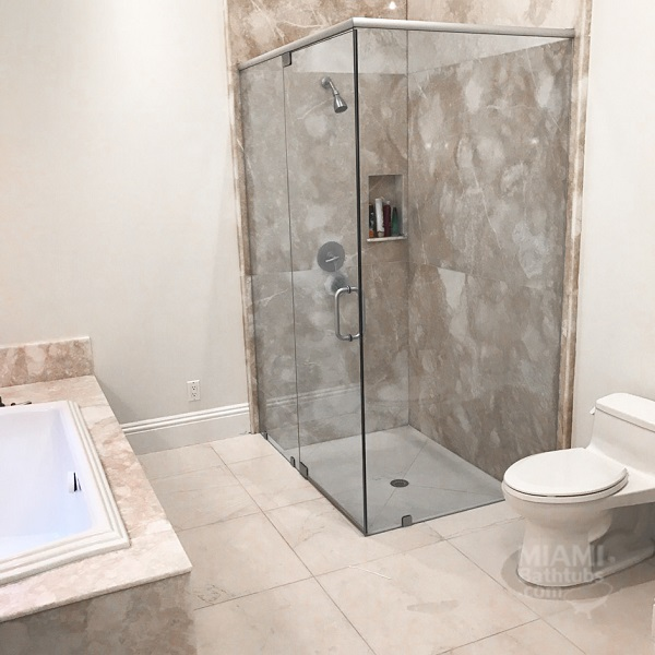 Shower door installation. 222. One of the essential elements of the bathroom interior is a shower stall. It must look stylish and still be comfortable. & Shower door installation repair replacement Miami Florida | Miami ...
