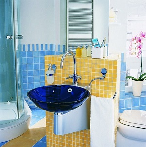 How To Add A Splash Of Color To A Bathroom Without Changing Design - Colored bathroom fixtures